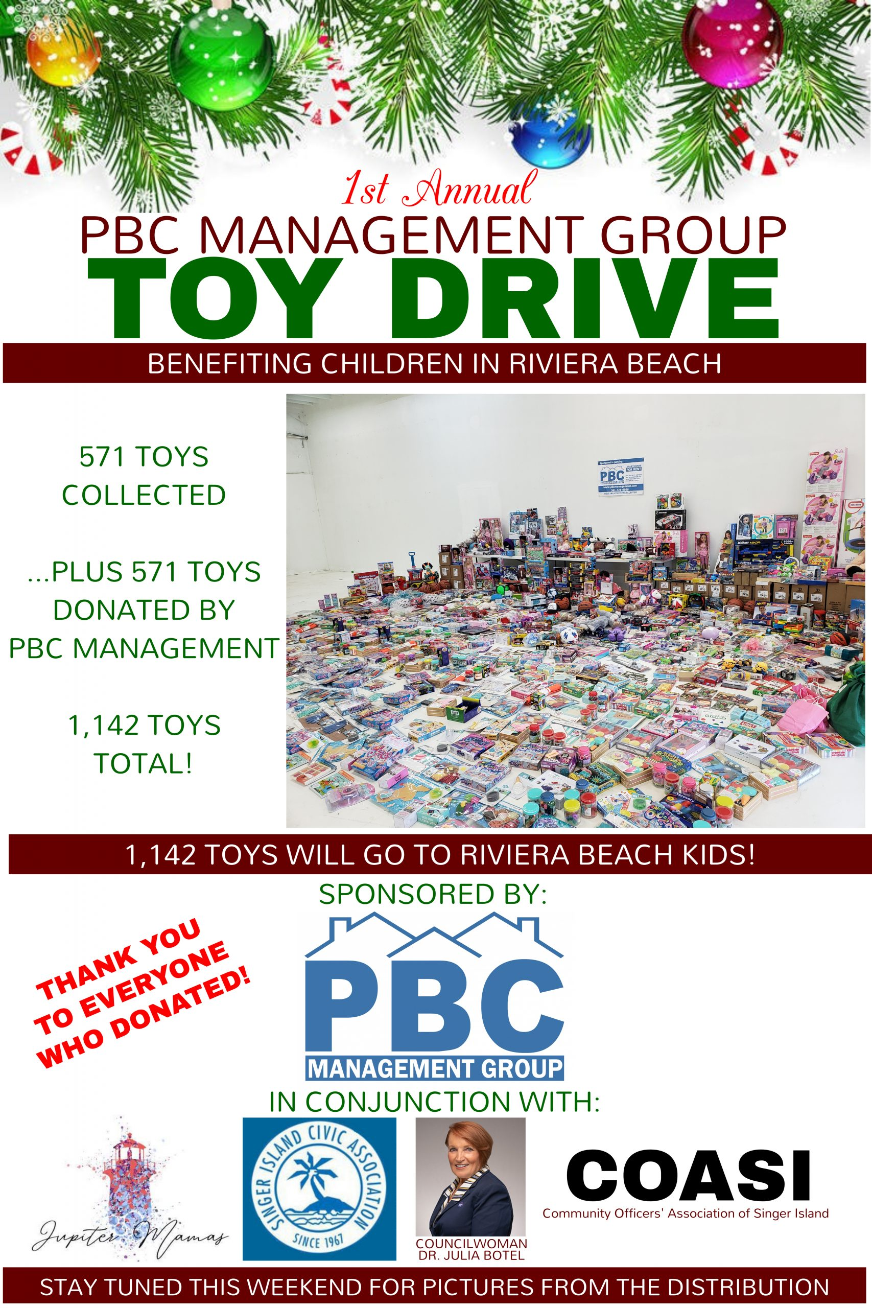 PBC Management Toy Drive